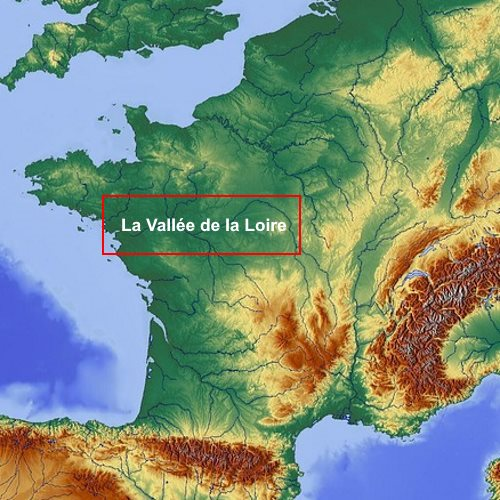 Carte de la Vallée de la Loire